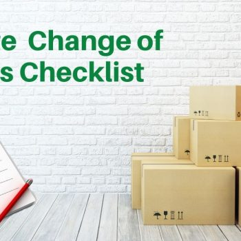 An Ultimate Change of Address Checklist (2021 Update)