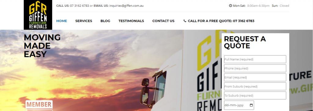 Giffen Removalists Brisbane